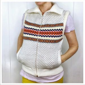 Retro Fleece/Knit Vest Zipper